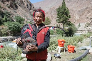nepal-juphal-dunai-road-thinle-shoes-bag